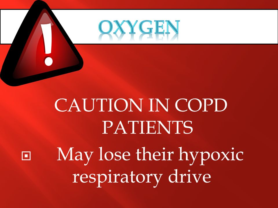 CAUTION IN COPD PATIENTS