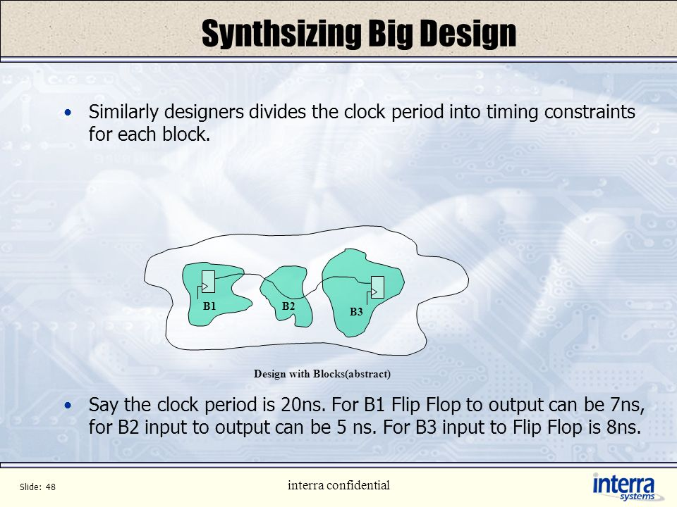 Synthsizing Big Design