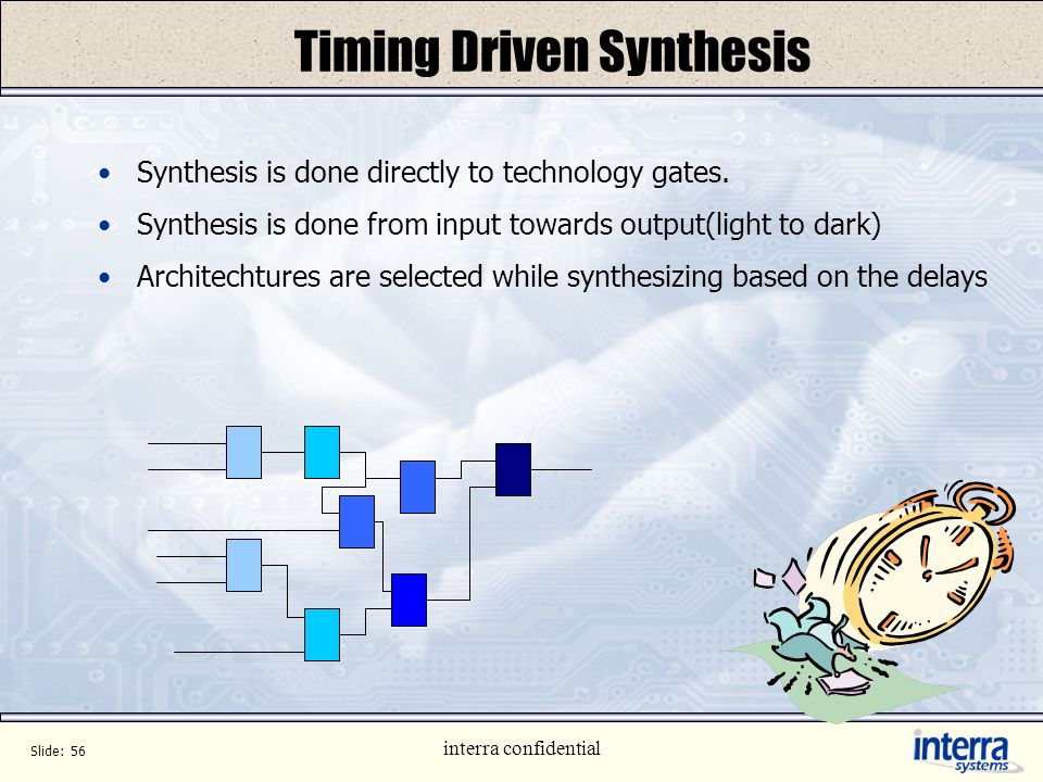 Timing Driven Synthesis