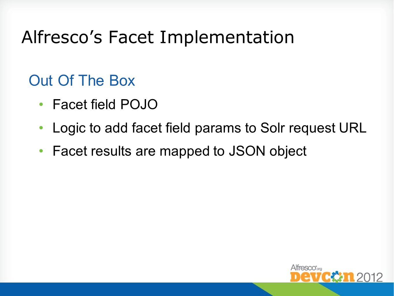 Alfresco's Facet Implementation
