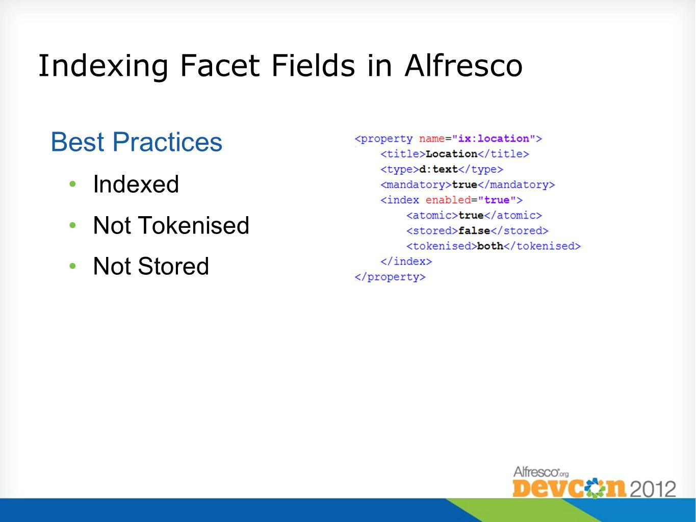 Indexing Facet Fields in Alfresco