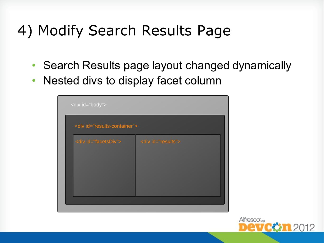 4) Modify Search Results Page