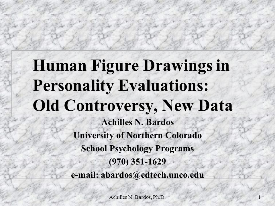 Human Figure Drawings in Personality Evaluations: Old Controversy, New Data