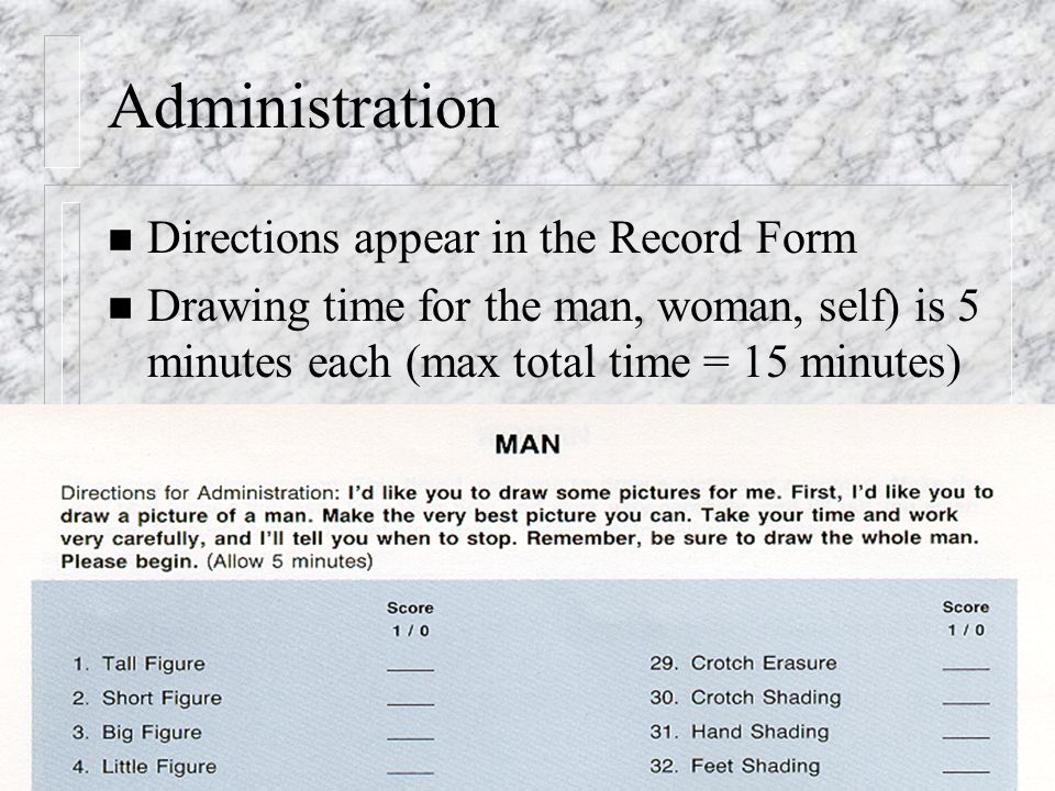 Administration Directions appear in the Record Form