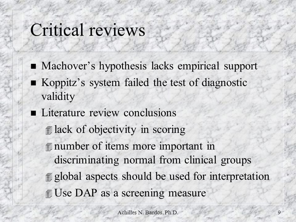 Critical reviews Machover's hypothesis lacks empirical support
