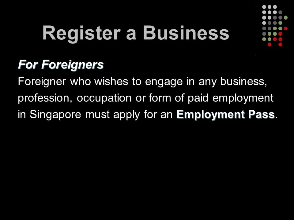 Register a Business For Foreigners