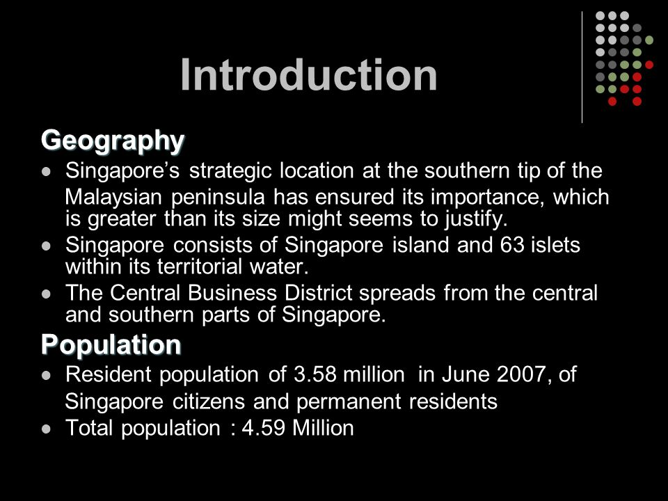 Introduction Geography Population