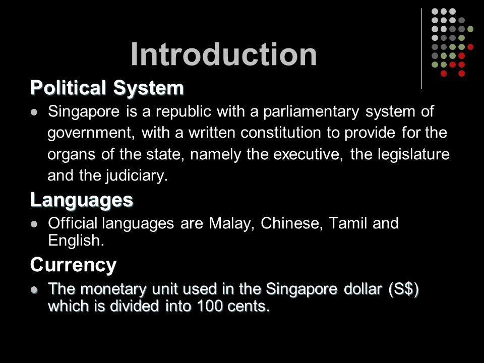 Introduction Political System Languages Currency