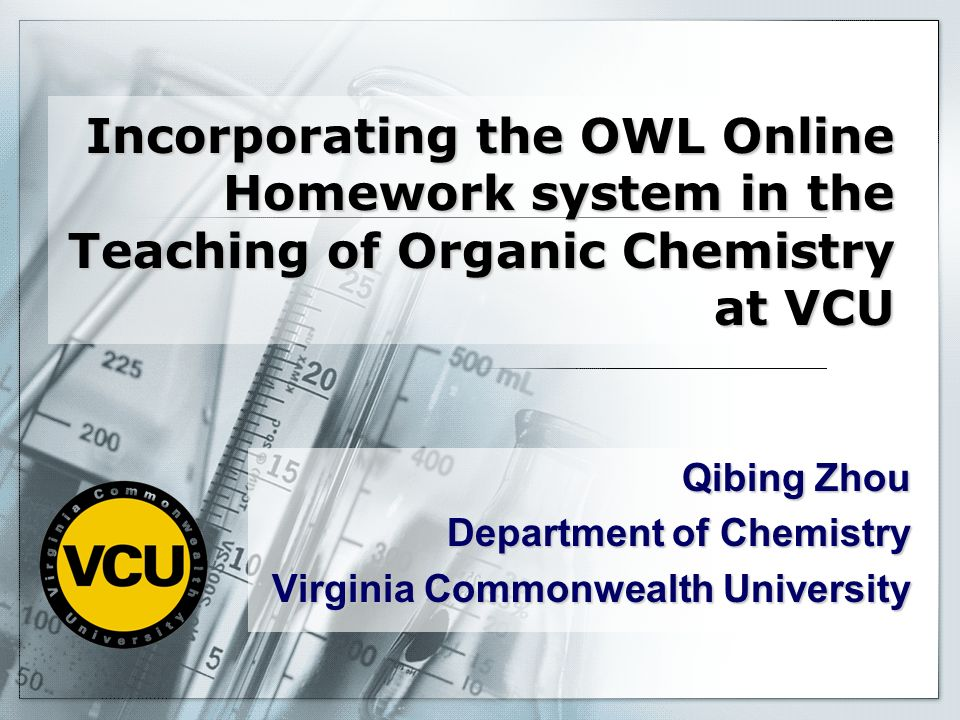 Qibing Zhou Department of Chemistry Virginia Commonwealth University