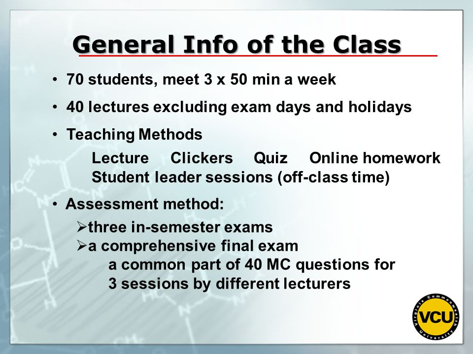 General Info of the Class