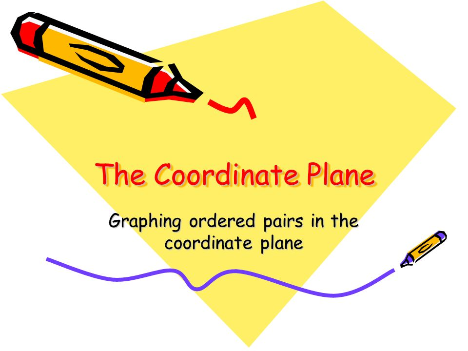 Graphing ordered pairs in the coordinate plane
