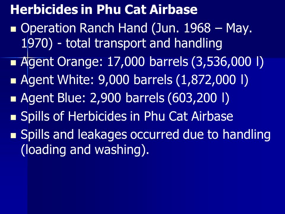 Herbicides in Phu Cat Airbase