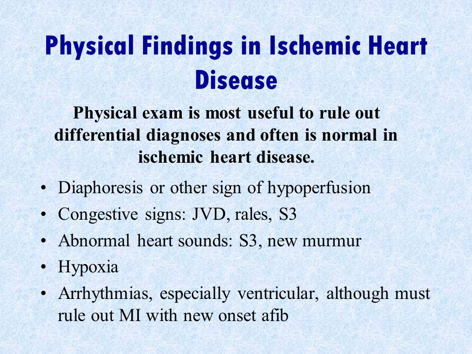 Physical Findings in Ischemic Heart Disease