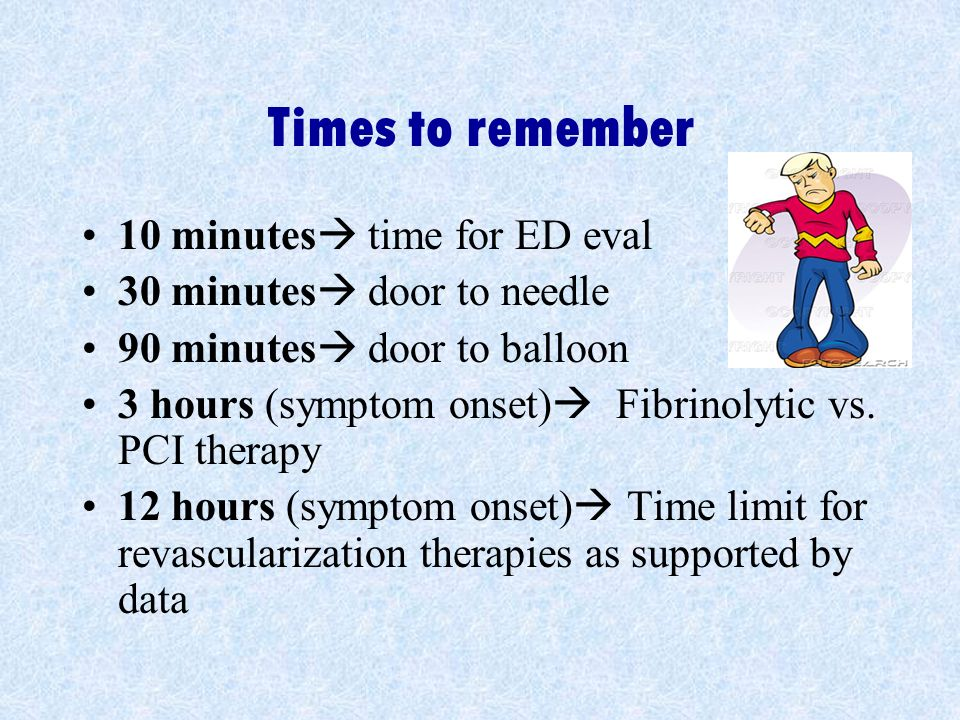 Times to remember 10 minutes time for ED eval