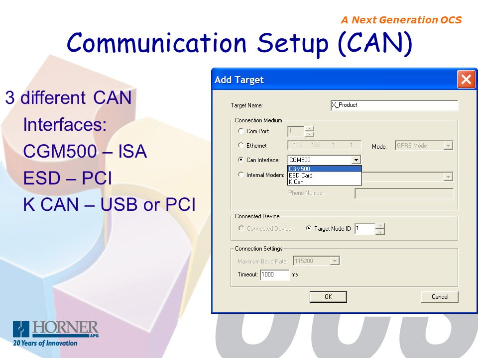 Communication Setup (CAN)