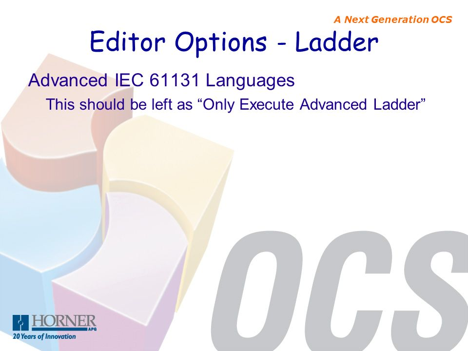 Editor Options - Ladder
