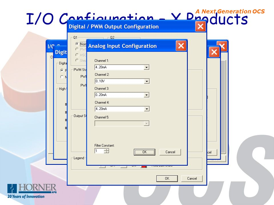 I/O Configuration – X Products