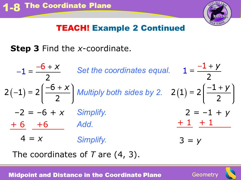 TEACH! Example 2 Continued