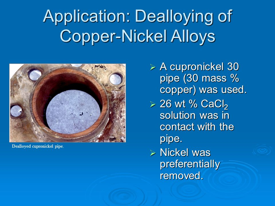 Application: Dealloying of Copper-Nickel Alloys