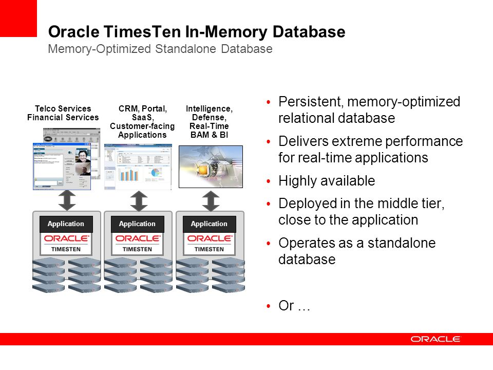 Oracle TimesTen In-Memory Database Memory-Optimized Standalone Database