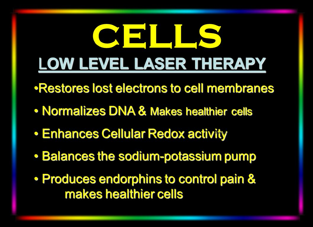 CELLS LOW LEVEL LASER THERAPY