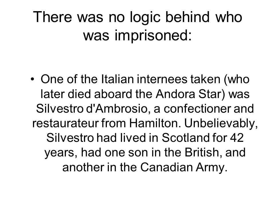 There was no logic behind who was imprisoned: