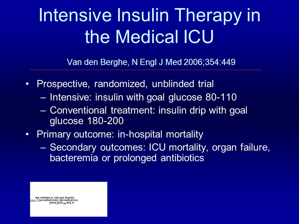 Intensive Insulin Therapy in the Medical ICU Van den Berghe, N Engl J Med 2006;354:449