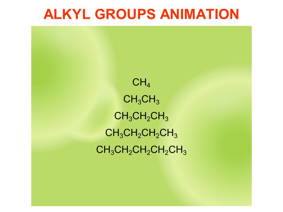 ALKYL GROUPS ANIMATION