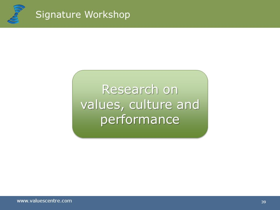 Research on values, culture and performance