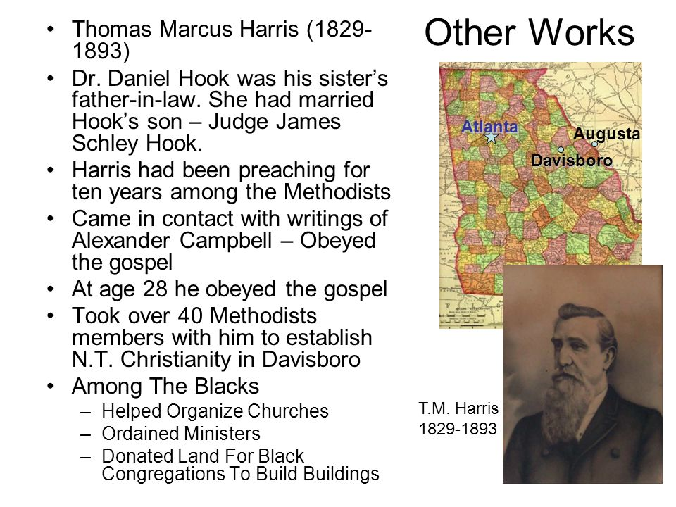 Other Works Thomas Marcus Harris ( )