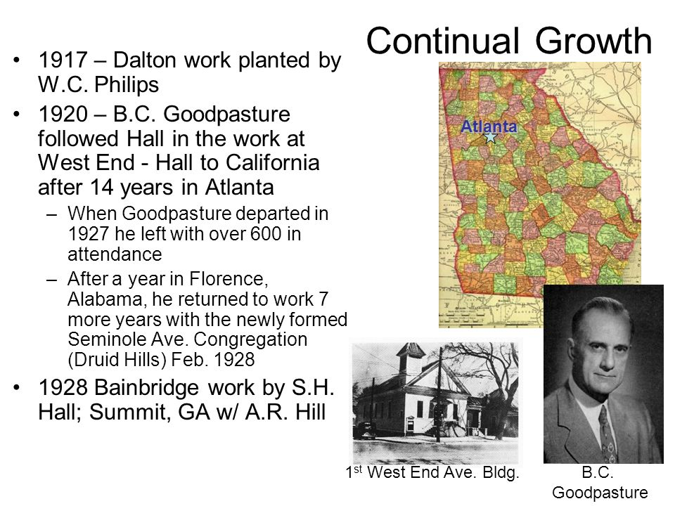 Continual Growth 1917 – Dalton work planted by W.C. Philips