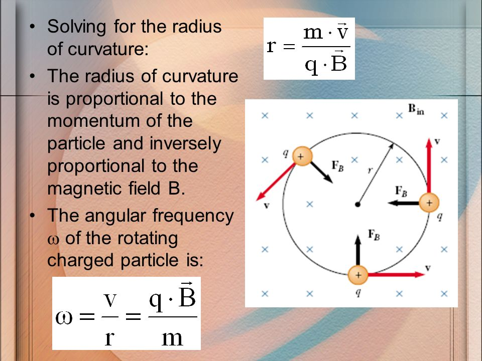 Solving for the radius of curvature: