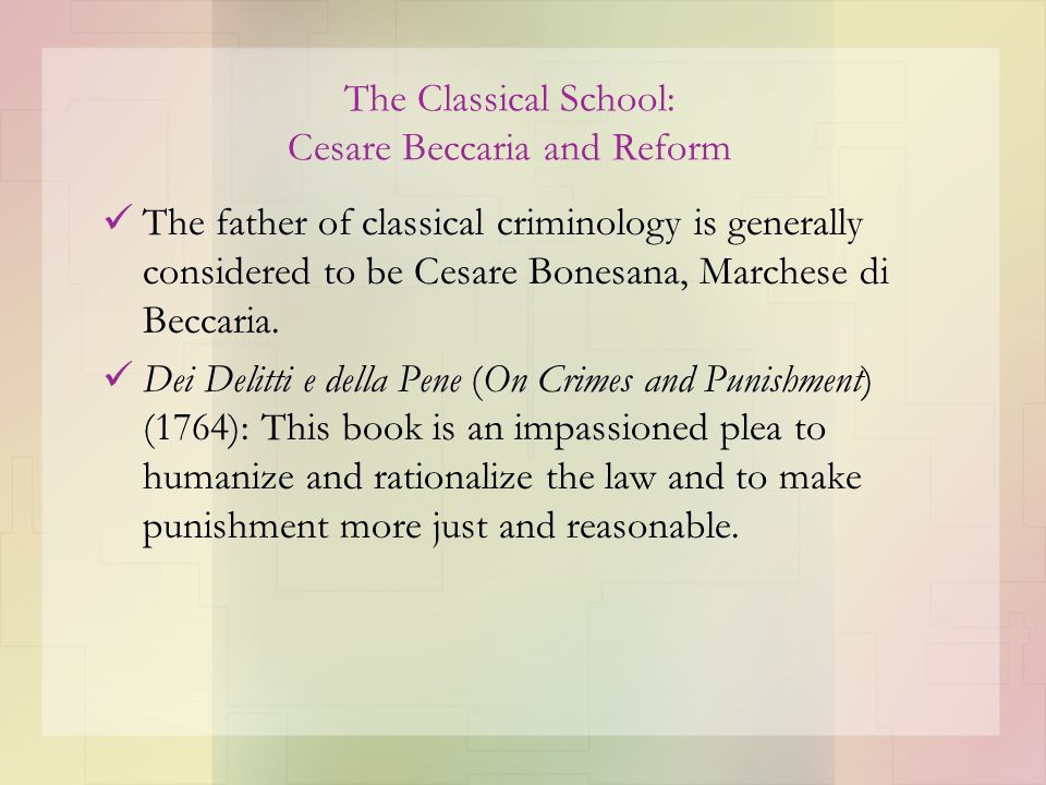 on crime and punishment beccaria summary