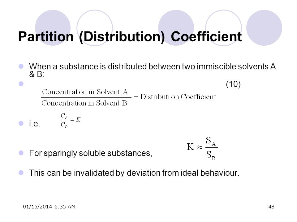 Partition (Distribution) Coefficient