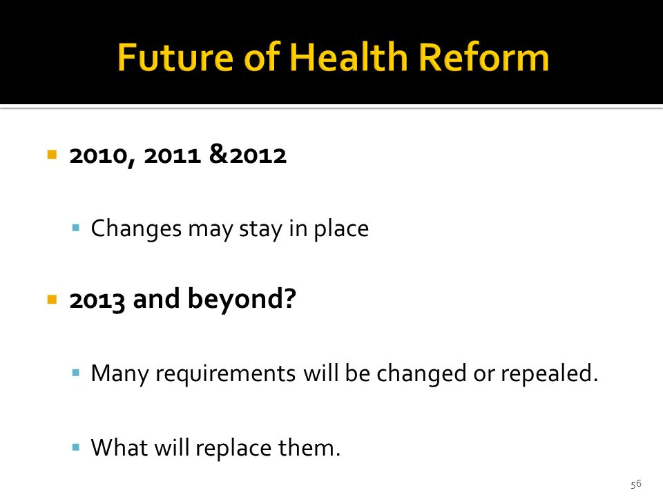 Future of Health Reform