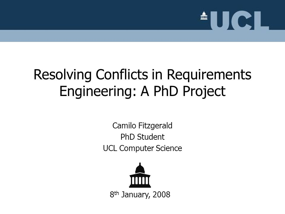 Camilo Fitzgerald PhD Student UCL Computer Science