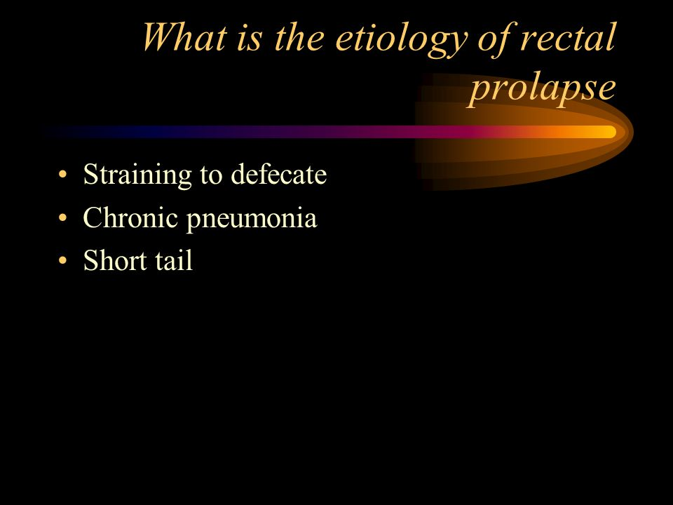 What is the etiology of rectal prolapse