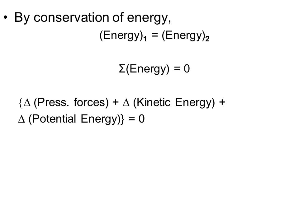 By conservation of energy,