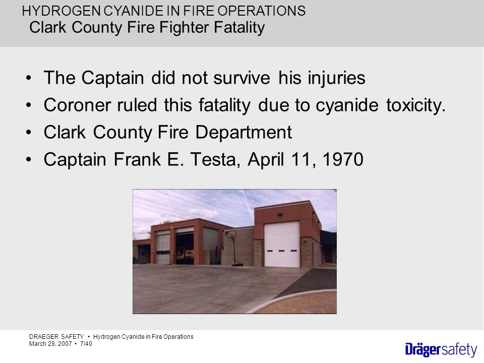 Clark County Fire Fighter Fatality