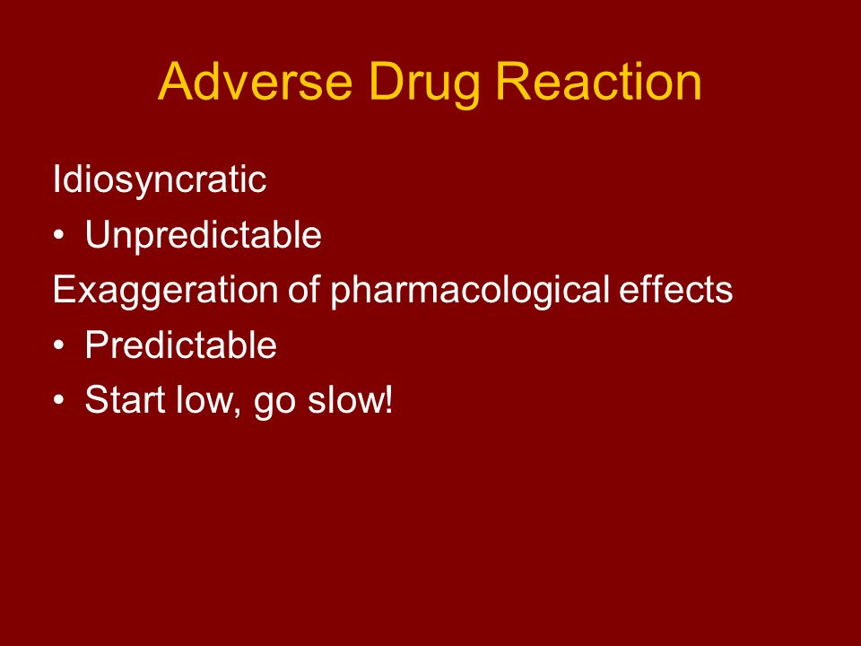 Adverse Drug Reaction Idiosyncratic Unpredictable