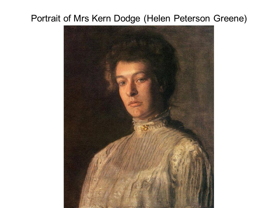 Portrait of Mrs Kern Dodge (Helen Peterson Greene)