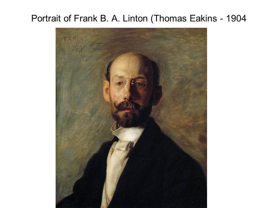 Portrait of Frank B. A. Linton (Thomas Eakins