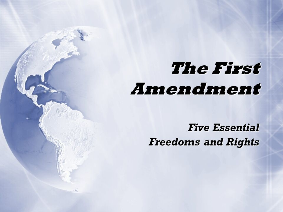 Five Essential Freedoms and Rights