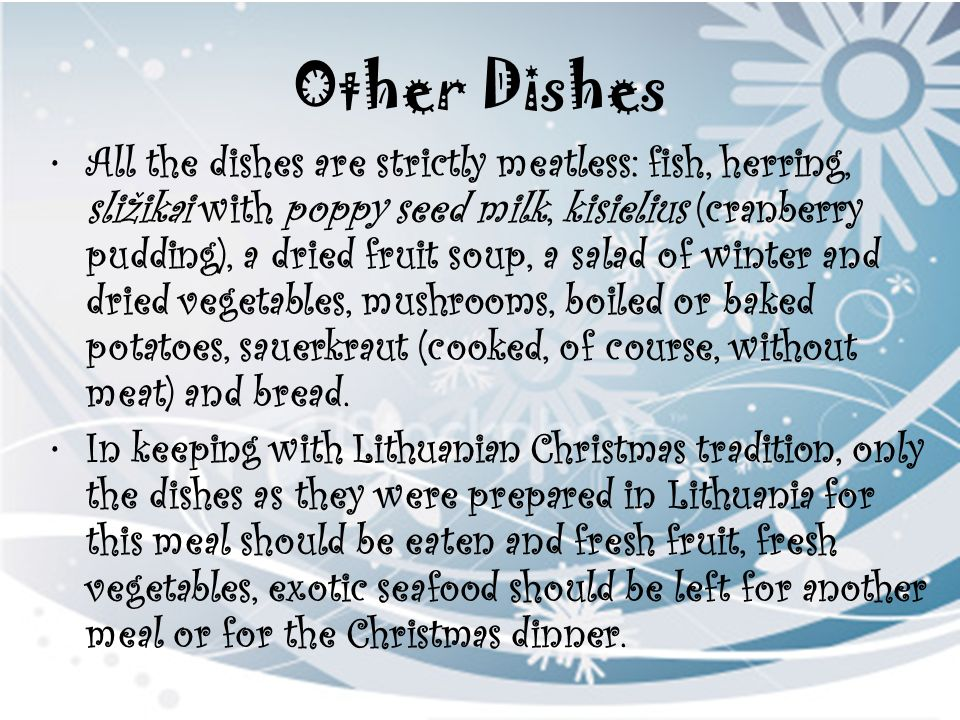 Other Dishes