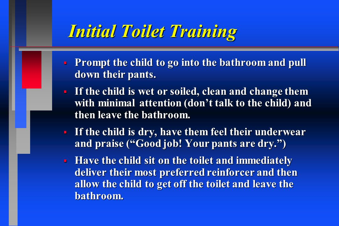 Initial Toilet Training