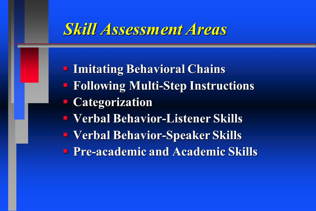 Skill Assessment Areas