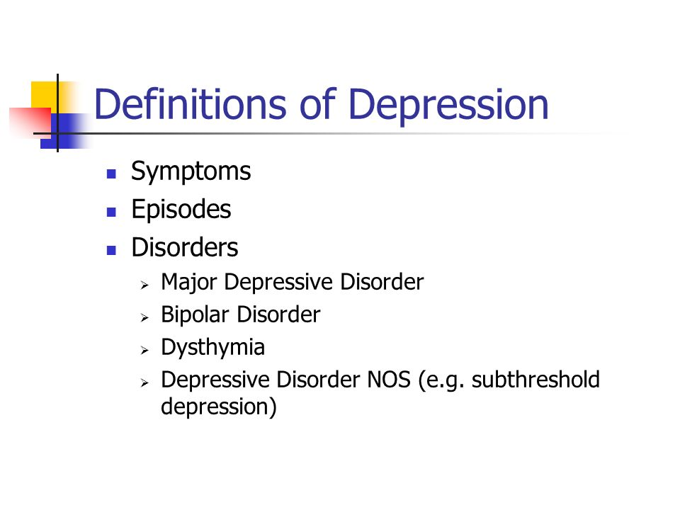 Definitions of Depression