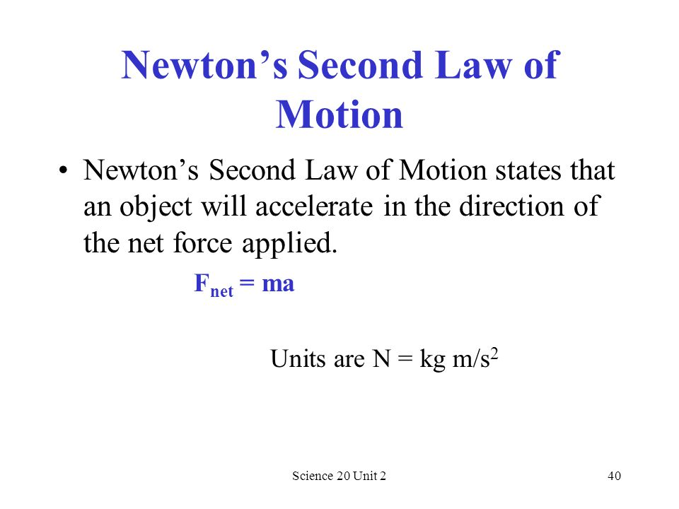 Newton's Second Law of Motion