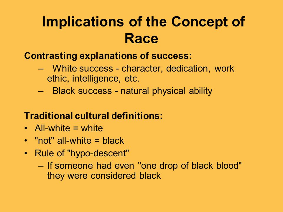 Implications of the Concept of Race