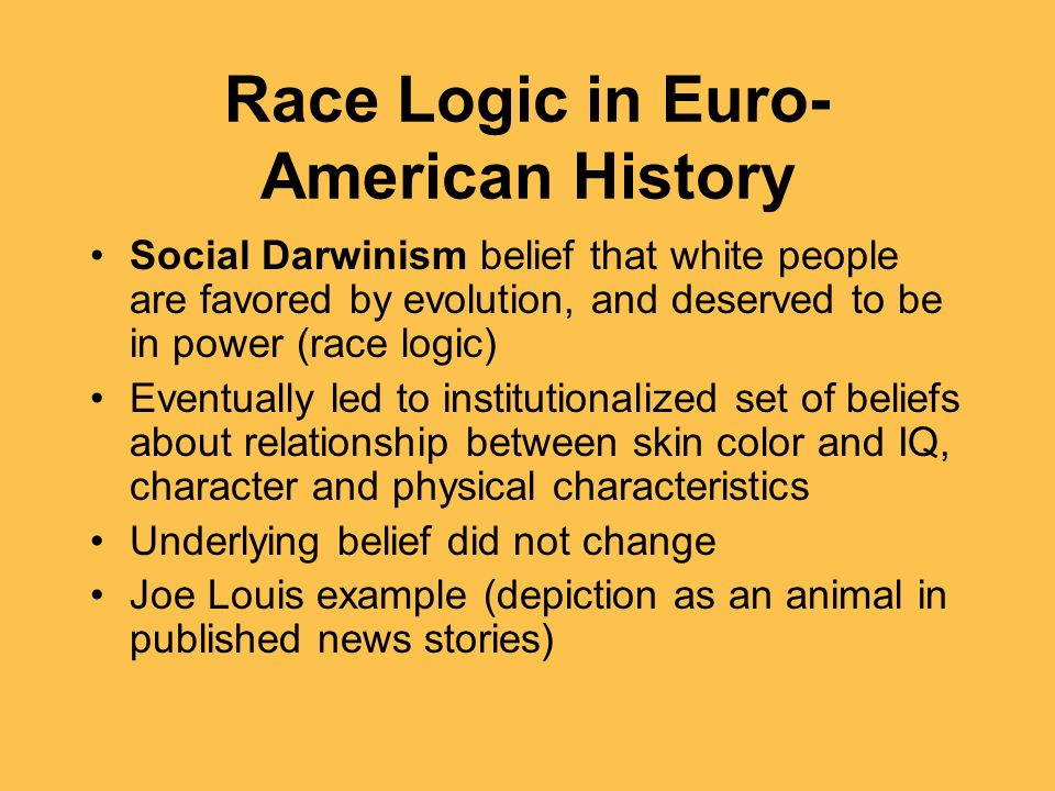 Race Logic in Euro-American History
